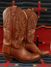 DAN POST GENUINE BROWN LEATHER WESTERN COWBOY BOOTS 9 D