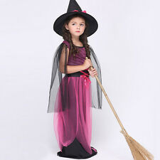 NEW S~XL KIDS DRESS UP COSTUME HALLOWEEN PARTY OUTFIT DRESS CAP GIRLS COSPLAY BB