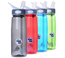 Portable 750ML Sport Bottle Camping Cycling Water Bottle Cup With Silicon Straw