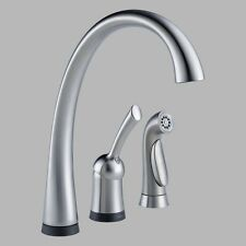Delta Pilar 4380T-DST Single Handle Kitchen Faucet with Side Spray and Touch2O
