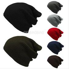 Fashion Mens Women's Knit Baggy Beanie Oversize Winter Hat Ski Slouchy Chic Caps
