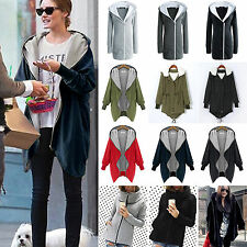Women Casual Jackets Coat Hoodie Winter Cardigan Parka Hooded Outwear Blouse Top