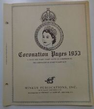 Minkus QEII 1953 Coronation Stamp album specialty pages & stamp collection used