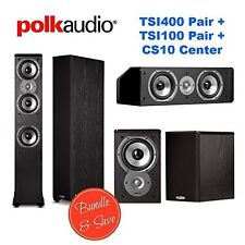 Polk Audio Home Theater System with (2) TSi400 (2) TSi100, and (1) CS10