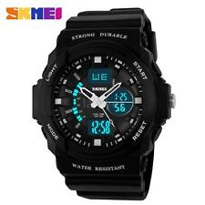 SKMEI Men Military Sport Analog Digital Watch LED Quartz Rubber Waterproof N5G1