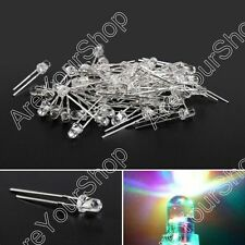 3mm/5mm LED Fast/Slow Flash RGB Water Clear Light Round Top Emitting Diode Lamp