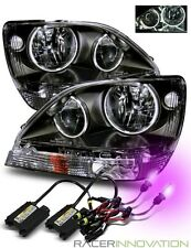 12000K HID/For 01-03 Lexus RX300 Aftermarket CCFL Halo Crystal Headlights Black