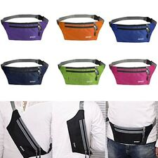 Waterproof Running Belt Bum Waist Pouch Fanny Pack Camping Sport Hiking Zip CO99
