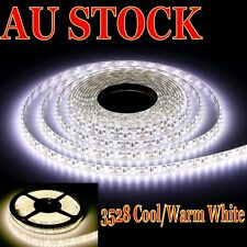 Waterproof Cool/Warm White 600 LEDs DC 12V 3528 SMD 5M LED Strip Lights+Dimmer