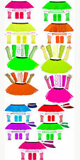 New NK Girl Neon Tutu Skirt Leg Warmer Gummies Beads V Hat Hen Fancy Party Dress