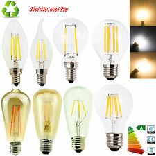 E12 E27 E14 Dimmable G45 A60 LED Bulb Light Edison Retro Vintage Filament Lamps