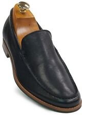 Kenneth Cole Navy Blue Leather Slip On Trending Formal Casual Loafer Shoe