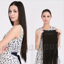 "Full Head ThicK Onepiece Five Clips in 100% Real Human Hair Extension 20""-30"""