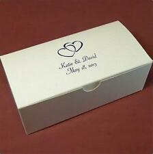 Personalized Wedding Favor Candy Treat Gift Box 6x3x2 White