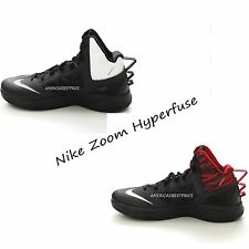 NIKE ZOOM HYPERFUSE NEW MENS BASKETBALL SHOES SNEAKERS BLACK/WHITE,BLACK/RED,NWT
