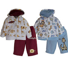 New Baby Boys Jacket Hoodie Pants set outfits Size 3 6 9 12 months