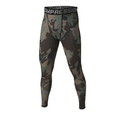 New Jungle Camo Mens Compression Base Layer Pants Tights Under Skin Sports Gear