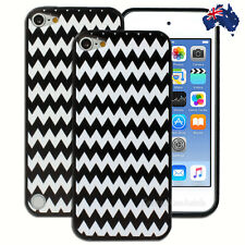 Black and White Chevron Hard Case for Apple iPod Touch 5 5th 6 6th Gen Cover