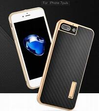 Luxury Metal Aluminum Frame Carbon Fiber Back Case Cover For iPhone 7 & 7 Plus