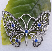 Wholesale 1pcs/5pcs tibet silver beautiful hollow out butterfly charms pendant