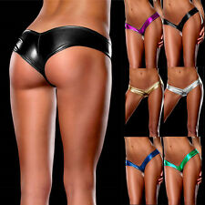 Stretch Polyester Underwear Women Briefs Sexy Lingerie G-Strings Thong Panties