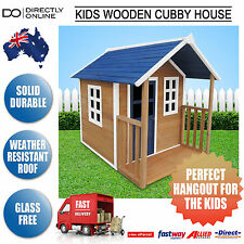 New Fun Childrens Kids Girl Boy Outdoors Wooden Toy Play Cubby House Cubbyhouse