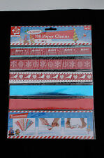 100 Paper chains strip make your own Xmas paper chain -