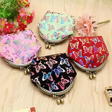 Women Gilding Butterfly Coin Purse Mini Canvas Wallet Card Holder Bag Luxury
