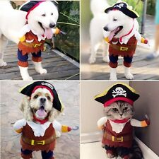 Halloween Funny Pet Dog Cat Pirate Clothes Costume Dress Costume Suit Outfit App
