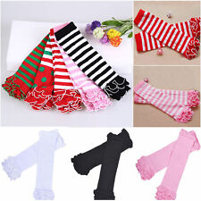 Children Baby Girls Casual Cotton Socks Leg Warmers Kneepad Tight Stocking Socks