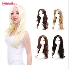 Fashion Women Wigs Curly Wave Synthetic Hair Anime Cosplay Party Lady Long Wig