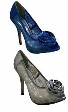 Ladies High Heel Peep Toe Netted Sandals Womens Evening Wedding Party Shoes Size