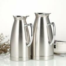 New 1L/1.5L Silver Stainless Steel Vacuum Insulated Teapot Coffee Water Pot I9U9
