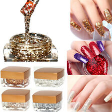 8 Colors Nail Art Powder Glitter Dust Polish UV Gel Acrylic Tips Decoration
