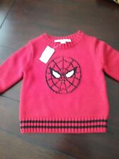 Baby gap spiderman sweater size 12 18 18 24 2t 2 years junk food NWT