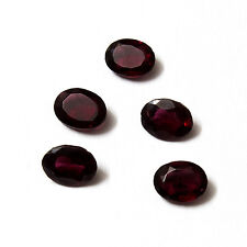 Deep Red Natural Hyderabad Garnet AA Quality 7x5 mm Faceted Oval Loose gemstone