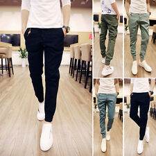 New Fashion Mens Casual Harem Slim Fit Skinny Pants Pencil Trousers Sport Slacks