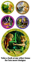 Tinkerbell cd clock, Gift Box, Stand, Xmas, Birthday, Personalised, Novelty,