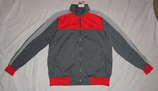 NWT Mens PUMA Tricot Full-Zip Track Jacket - size XL - Gray & Red