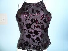 bnwt new wallis stunning beautiful party top purple with floral  detail size 14p