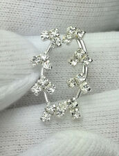 Real 925 Silver Earring Crystal Prong Set 1,3,5 Pairs /1Lot