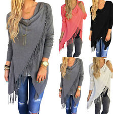 New Fashion Womens Loose Casual Long Sleeve T-Shirt Cotton Blouse Tops T-Shirt