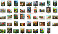 Handmade oil painting : the parrot bird Style ,please choose one #1234