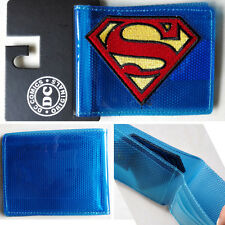 New Hot DC Comics Superman Logo Transparent wallets Blue 12cm Plastic Man Woman