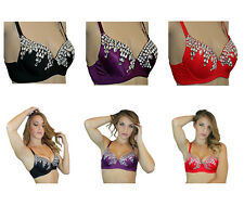 Exotic Burlesque Costume Sequin Belly Dance Bratop Tank Clearance Sale!