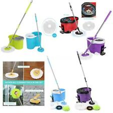 Easy Magic Floor Spin Mop 360° Bucket 2/4 MOP Heads Microfiber Spinning Rotating