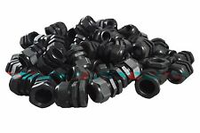 PG25 Black Nylon Waterproof Strain Relief, Cord Grip, Cable Gland 16-21mm 100pcs