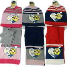 Minion Hat Glove & Scarf Set Girls Minions Despicable Me Hat Glove & Scarf Set