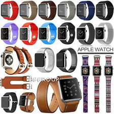 For Apple Watch 2 1 Genuine Leather/Stainless Steel Magnet Wrist Band Strap 38MM