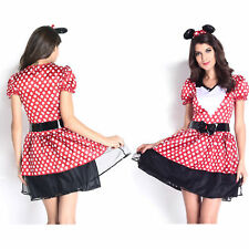 Women Sexy Miss Kitty Glam Costume Dress Bunny & Cats Role Play Preppy Cute